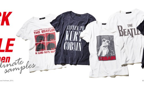 ROCK TEE STYLE for women<br/>coordinate samples