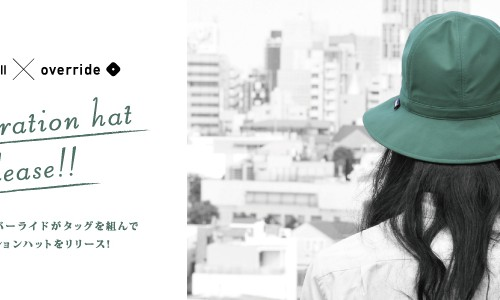Johnbull × override<br> collaboration hat release!!