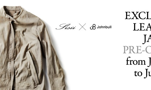 【Sisii】×【Johnbull】<br>EXCLUSIVE LEATHER JACKET PRE-ORDER