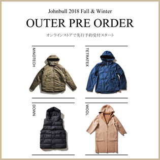 2018 Fall&Winter OUTER PRE ORDER