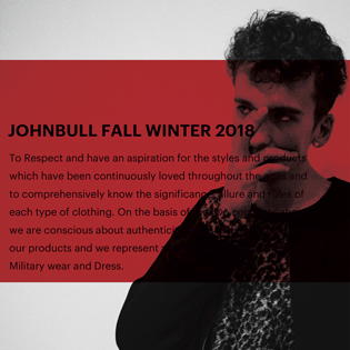 Johnbull FALL WINTER 2018 for MEN