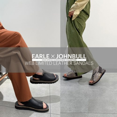 EARLE×JOHNBULL -Leather Sandals-
