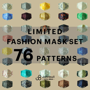 LIMITED FASHION MASK SET 76 PATTERNS