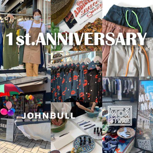 JOHNBULL OMOTESANDO/MOY STORE 1 YEARS ANNIVERSARY